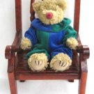 Piccadilly The Tan Bear Ty Attic Treasure Wearing Clown Outfit Retired 2000