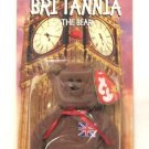 Britannia The Brown UK Bear Teenie Beanie Baby Retired 1999