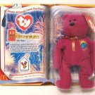 Millennium Bear Ty Teenie Beanie Baby In Package 2000 Retired