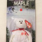 Maple The Canadian Bear Ty Teenie Beanie Baby In Package 1999 Retired
