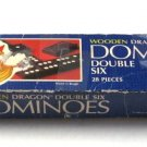 Wooden Dragon Dominoes Double Six Milton Bradley Vintage 1983