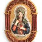 Virgin Mother Mary Wall Decor Religion Religious Montefiori Collection Italy Design