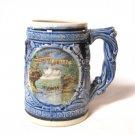 Vintage Wisconsin Dells Drinking Stein Ceramic Pottery Retro 1960s