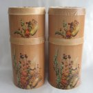 Vintage Canister 8 Pc. Set Wheat Woodgrain Cheinco Retro 70s