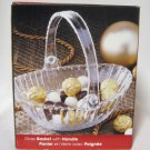 Decorative Glass Bowl Basket with Removable Handle By Bali Dishwasher Safe