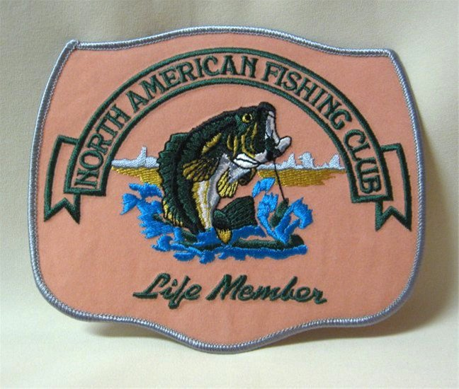 North american fishing club life member large patch for North american fishing club