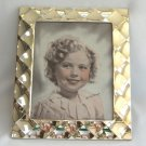 20th Century Fox Pictures Shirley Temple Print In Fancy Silver Frame With Glass