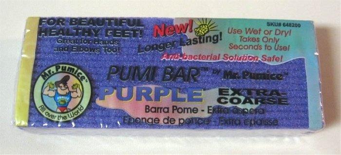 Purple Pumi Bar By Mr. Pumice Extra Coarse