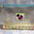 Ladybug Cosmetic Case Makeup Bag Vinyl Transparent