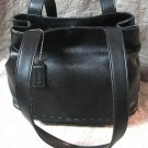 Sonoma Designer Black Leather Purse Handbag Soft
