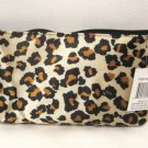 Leopard Print Cosmetic Bag Makeup with Mirror
