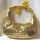 Gold Mesh Metallic Purse Flashy Fancy Handbag