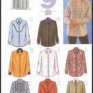 Butterick Sew Easy Sewing Pattern #3639 Misses Shirt Top Blouse Size 8 10 12