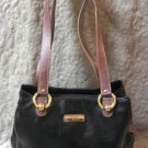 Sonoma Lifestyle Black Leatherette Handbag Purse