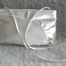 Vintage Handbag Purse Satin Rhinestone Beige Cream Color