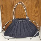 Victoria's Secret Large Blue Jean Handbag Purse Tote Overnight Bag