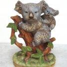 Vintage Lefton China Hand Painted Koala Bear And Baby Joeys Figurine