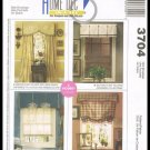 McCall's Sewing Pattern No. 3704 Home Decor Window Valances Roman Shade