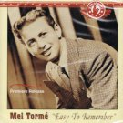 Mel Torme Easy To Remember Music CD Premiere Release