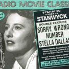 Radio Movie Classics Barbara Stanwyck Sorry Wrong Number Stella Dallas Audio Cassettes