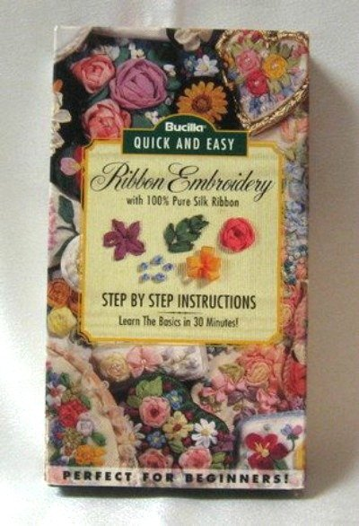 Bucilla Quick & Easy Ribbon Embroidery Step By Step Video