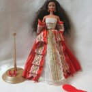 Barbie Doll 1997 Holiday Special Edition Brunette With Red Dress 10th Anniversary