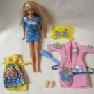 Slumber Barbie Doll Pink Bathrobe & Accessories Mattel
