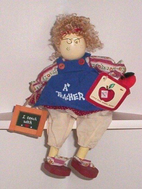 Little Olde School House Teacher Doll Made By Russ Shelf Sitter