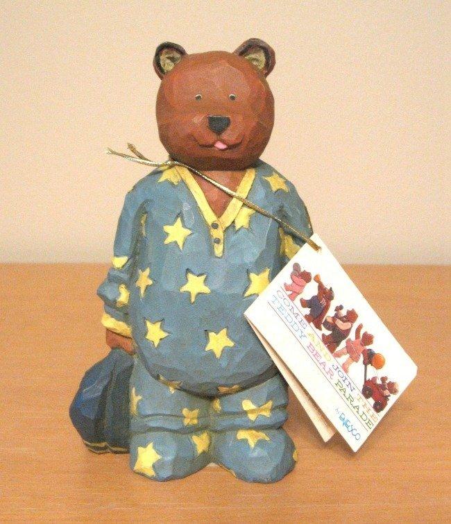 Enesco Cuddles Teddy Bear Figurine Artist Sande Elkins Limited Edition
