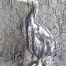 Unique Gray Drip Design Ceramic Goose Figurine