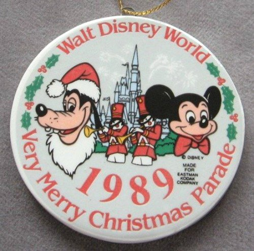 Mickey Mouse Goofy Christmas Ornament Walt Disney World 1989