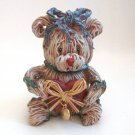 Teddy Bear Figurine With Gold Heart