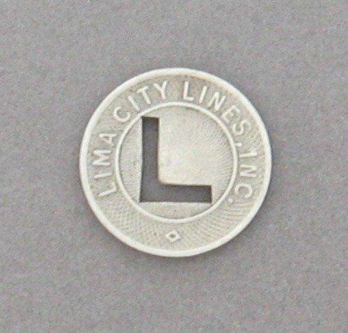 Vintage 1940's Lima City Lines Inc. Token