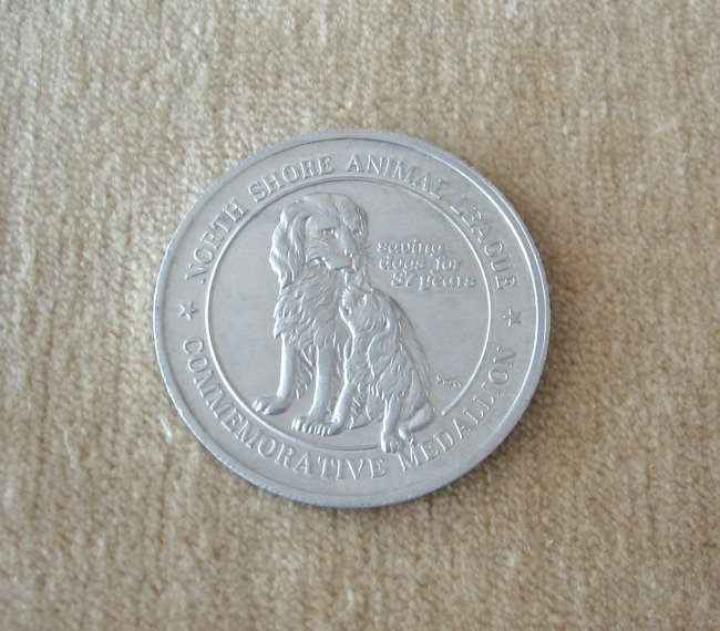 1981 North Shore Animal League Commemorative Medallion Token