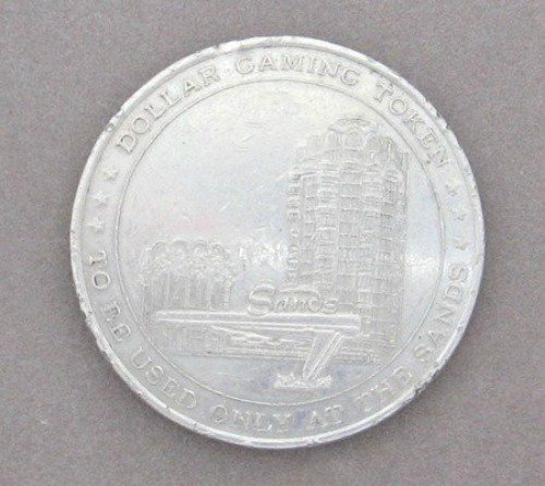 The Sands Las Vegas One Dollar Gaming Token Vintage
