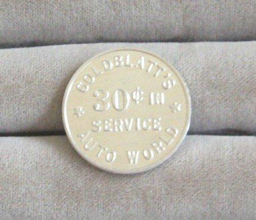 Vintage Goldblatt's 30 Cent Auto World Token Retro