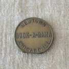Chicago Illinois Newtown Book A Rama Peep Show Token Vintage