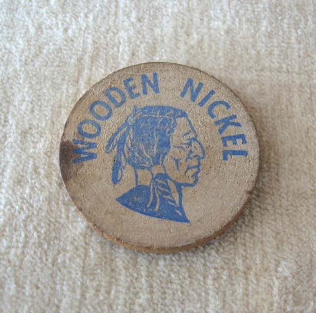 Vintage Wooden Nickel Macbeath Hardwood San Francisco Berkeley Salt Lake City