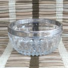 Vintage Glass Silver Rim Bowl Made In Italy Fancy 1970s