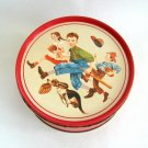 Norman Rockwell Tin Vintage Dog Children Baseball 1st Edition