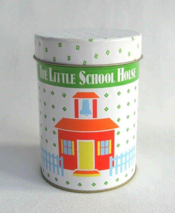 Collectible Tin The Little School House Vintage Hong Kong
