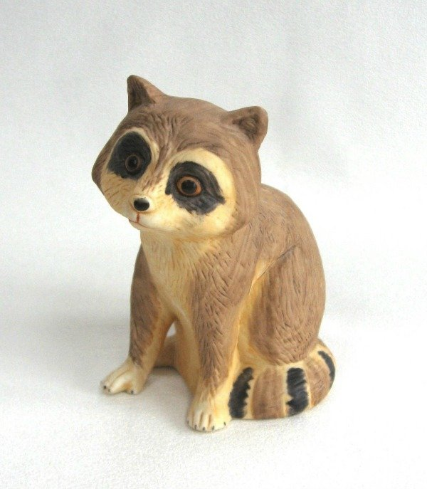 Vintage Porcelain Raccoon Ringing Bell 60's