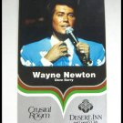 Wayne Newton Large Vintage Postcard Crystal Room Desert Inn Country Club Las Vegas Nevada
