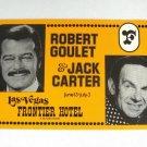 Robert Goulet Jack Carter Large Vintage Postcard Frontier Hotel Las Vegas Nevada