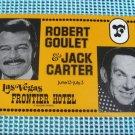 Large Postcard Robert Goulet Jack Carter Frontier Hotel Casino Vintage Las Vegas Nevada