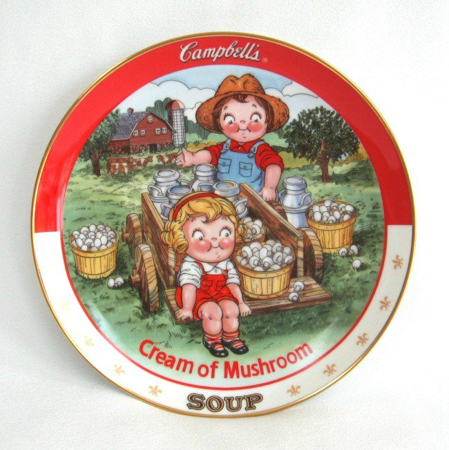 Campbell's Cream Of Mushroom Soup Collector's Plate 1994 The Danbury Mint