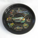 Souvenir Serving Tray Ohio Pennsylvania New Jersey Turnpikes Vintage Snack Beverage