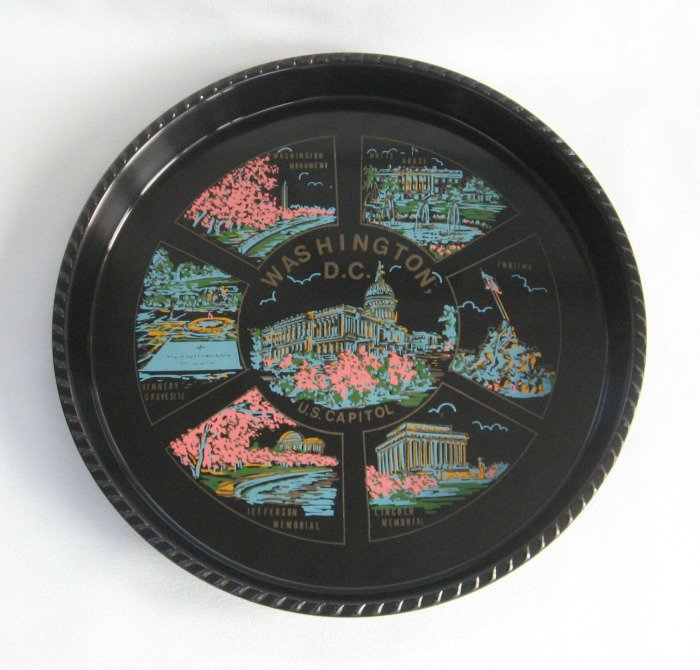 Serving Tray Washington D.C. U.S. Capitol Vintage Souvenir Japan