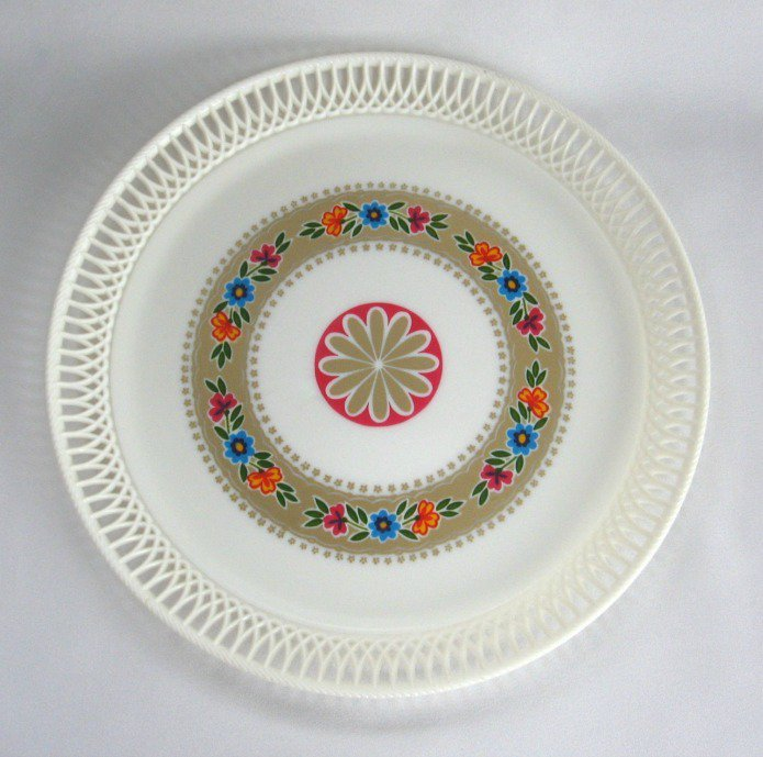 Large Serving Tray Retro Vintage Funky Flowers Lega Italy