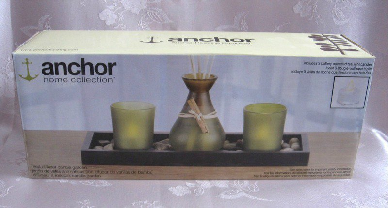 Anchor Hocking Home Collection Reed Diffuser Candle Garden